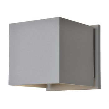"Access Square 2-Light 5"" Outdoor Wall Light in Satin"
