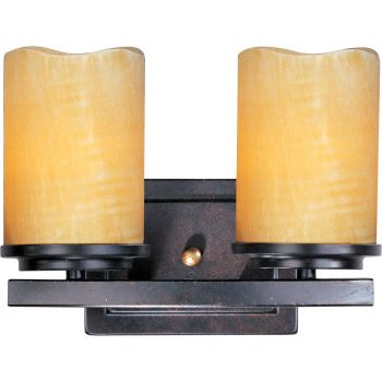 Maxim Lighting Luminous 2-Light Bath Vanity in Black