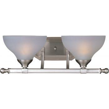 Maxim Lighting Contour 2-Light Bath Vanity in Satin Nickel