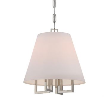 "Crystorama Westwood 4-Light 14"" Mini Chandelier in Polished Nickel"