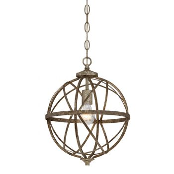 Millennium Lighting Lakewood 1-Light Pendant in Antique Silver