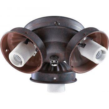 """Quorum Kit 5.5"""" 3-Light Ceiling Fan Light Kit in Toasted Sienna"""