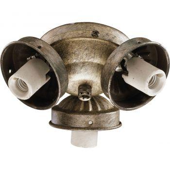 """Quorum Kit 5.5"""" 3-Light Ceiling Fan Light Kit in Mystic Silver"""