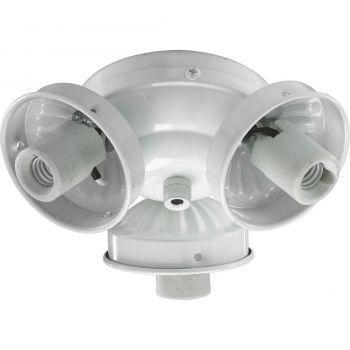 """Quorum Kit 5.5"""" 3-Light Ceiling Fan Light Kit in White"""