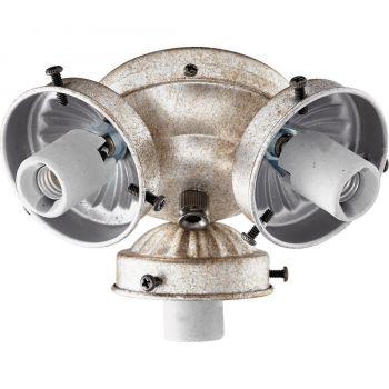 """Quorum Kit 5.5"""" 3-Light Ceiling Fan Light Kit in Aged Silver Leaf"""