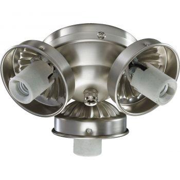 """Quorum Kit 5.5"""" 3-Light Ceiling Fan Light Kit in Satin Nickel"""