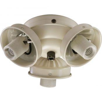 """Quorum Kit 5.5"""" 3-Light Ceiling Fan Light Kit in Antique White"""