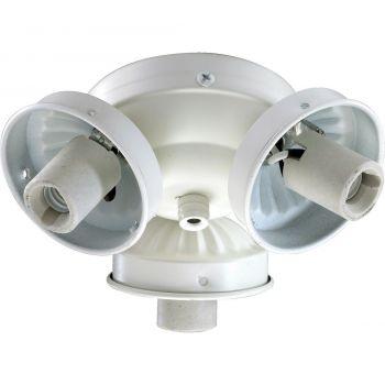 """Quorum Kit 5.5"""" 3-Light Ceiling Fan Light Kit in Studio White"""