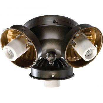 """Quorum Kit 5.5"""" 3-Light Ceiling Fan Light Kit in Oiled Bronze"""