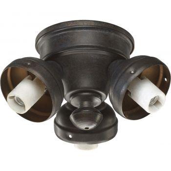 "Quorum Kit 6"" 3-Light Patio Ceiling Fan Light Kit in Toasted Sienna"