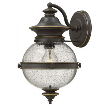 Hinkley Saybrook 1-Light Outdoor Medium Wall Mount in Oil Rubbed Bronze