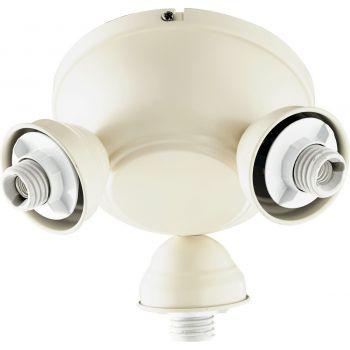 """Quorum Salon 8"""" 3-Light Ceiling Fan Light Kit in Antique White"""