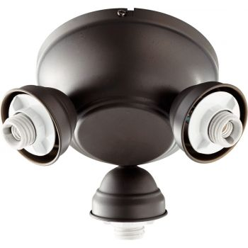 """Quorum Salon 8"""" 3-Light Ceiling Fan Light Kit in Oiled Bronze"""