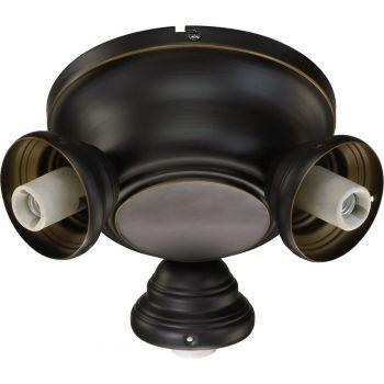 """Quorum Salon 8"""" 3-Light Ceiling Fan Light Kit in Old World"""