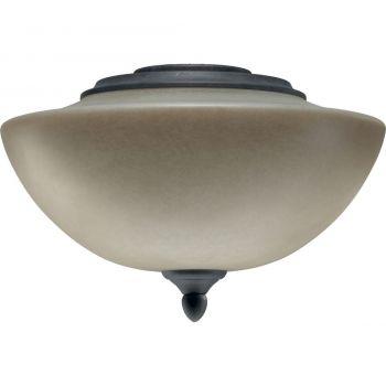 "Quorum Salon 11.75"" 2-Light Ceiling Fan Light Kit in Toasted Sienna"