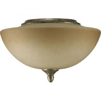 "Quorum Salon 11.75"" 2-Light Ceiling Fan Light Kit in Mystic Silver"
