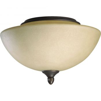 "Quorum Lone Star 11.5"" 2-Light Ceiling Fan Light Kit in Toasted Sienna"