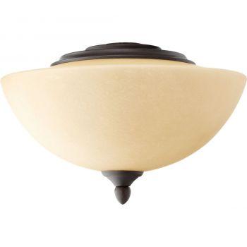 """Quorum Kit 11.5"""" 2-Light Ceiling Fan Light Kit in Oiled Bronze"""