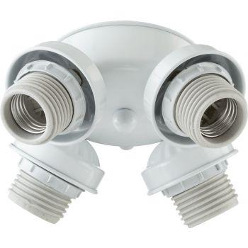 """Quorum Kit 7"""" 4-Light Ceiling Fan Light Kit in White"""