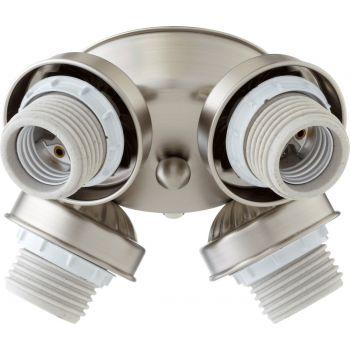 """Quorum Kit 7"""" 4-Light Ceiling Fan Light Kit in Satin Nickel"""