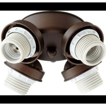 """Quorum Kit 8"""" 4-Light Ceiling Fan Light Kit in Oiled Bronze"""