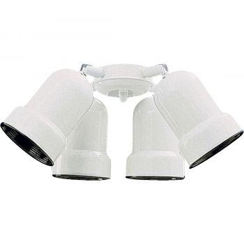 """Quorum Kit 10"""" 4-Light Ceiling Fan Light Kit in White"""