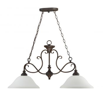 Craftmade Barrett Place 2-Light White Frosted Island in Mocha Bronze