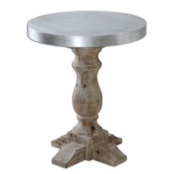 """Uttermost Martel 24"""" Accent Table in Natural Stained Fir"""