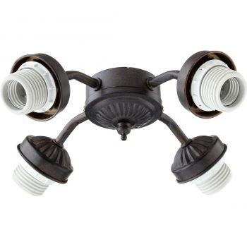 """Quorum Kit 10"""" 4-Light Ceiling Fan Light Kit in Toasted Sienna"""