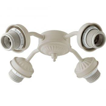 """Quorum Kit 10"""" 4-Light Ceiling Fan Light Kit in Antique White"""