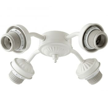 """Quorum Kit 10"""" 4-Light Ceiling Fan Light Kit in Studio White"""