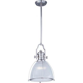Maxim Lighting Hi-Bay 1-Light Pendant in Satin Nickel