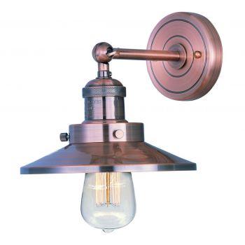 "Maxim Lighting Mini Hi Bay 7.25"" Metal Wall Sconce in Antique Copper"