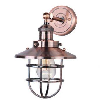 "Maxim Lighting Mini Hi Bay 13.25"" Wall Sconce/ Bulb in Antique Copper"