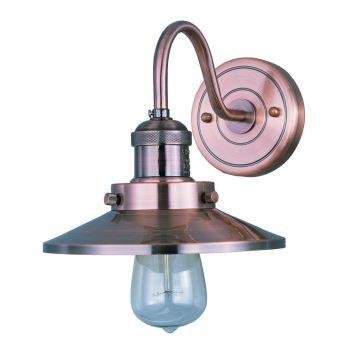 "Maxim Lighting Mini Hi Bay 7.75"" Metal Wall Sconce in Antique Copper"