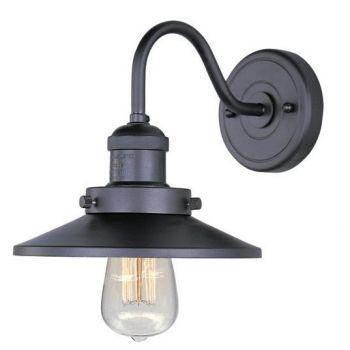 "Maxim Lighting Mini Hi Bay 7.75"" Metal Wall Sconce w/ Bulb in Bronze"