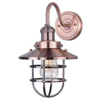 "Maxim Lighting Mini Hi Bay 15.5"" Wall Sconce w/ Bulb in Antique Copper"