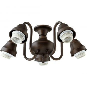 """Quorum Kit 14"""" 5-Light Ceiling Fan Light Kit in Oiled Bronze"""