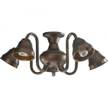 """Quorum Kit 14"""" 5-Light Ceiling Fan Light Kit in Corsican Gold"""