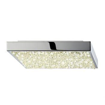 "Sonneman Dazzle 10"" LED Square Semi-Flush Mount in Polished Chrome"
