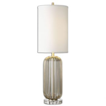 """Uttermost Cesinali 34"""" Table Lamp in Plated Antique Gold"""