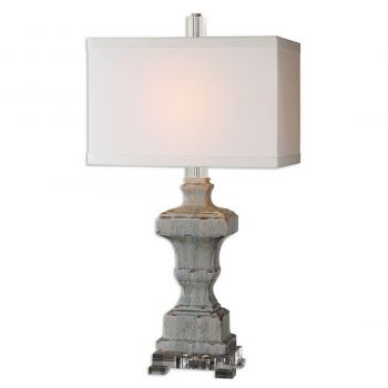"Uttermost San Marcello 31.5"" Table Lamp in Distressed Blue"
