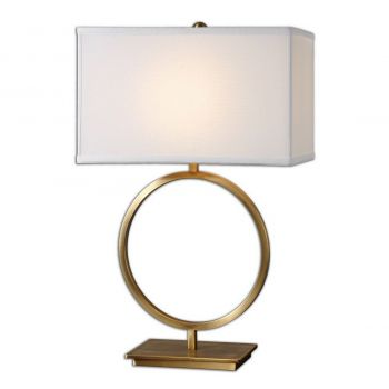 "Uttermost Duara 28.75"" Table Lamp in Plated Brushed Brass"