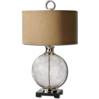 """Uttermost Catalan 29.5"""" Metal Accent Lamp in Plated Polished Nickel"""