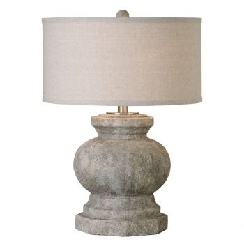 "Uttermost Verdello 26.5"" Table Lamp in Antiqued Stone Ivory"