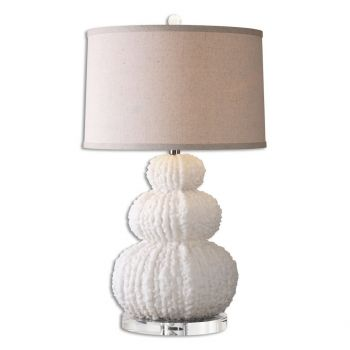 """Uttermost Fontanne 27.5"""" Textured Table Lamp in Shell Ivory"""