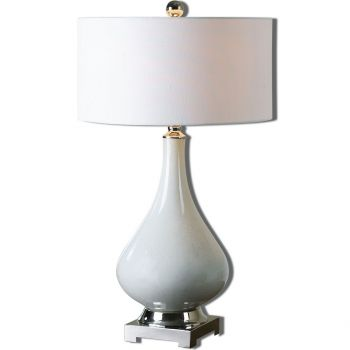 "Uttermost Helton 30"" Ceramic Table Lamp in Aged Ivory"