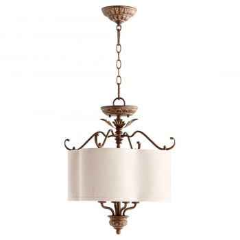 "Quorum Salento 18"" 4-Light Pendant in Vintage Copper"