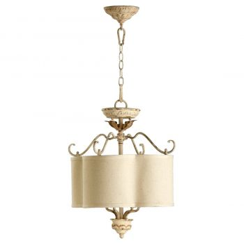 "Quorum Salento 18"" 4-Light Dual Mount Ceiling Light in Persian White"
