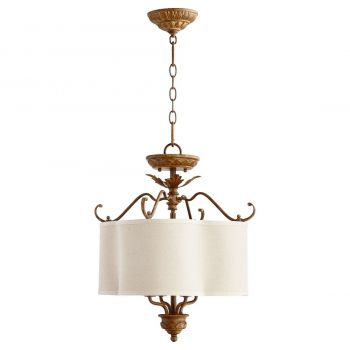 "Quorum Salento 18"" 4-Light Dual Mount Ceiling Light in French Umber"